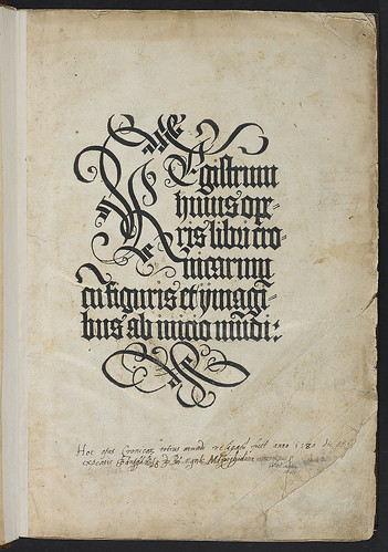 Schedel, Hartmann: Liber chronicarum - Inscribed title-page