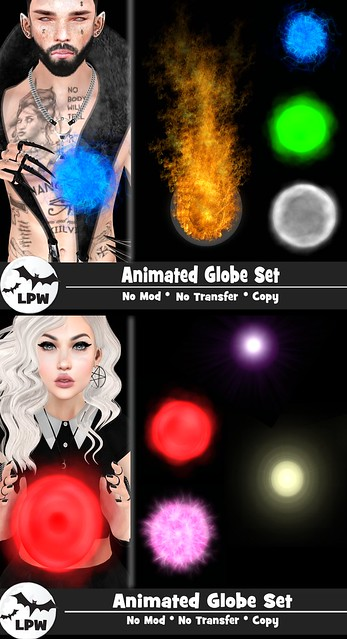 . Little Pose Witch . Animated Globe Set