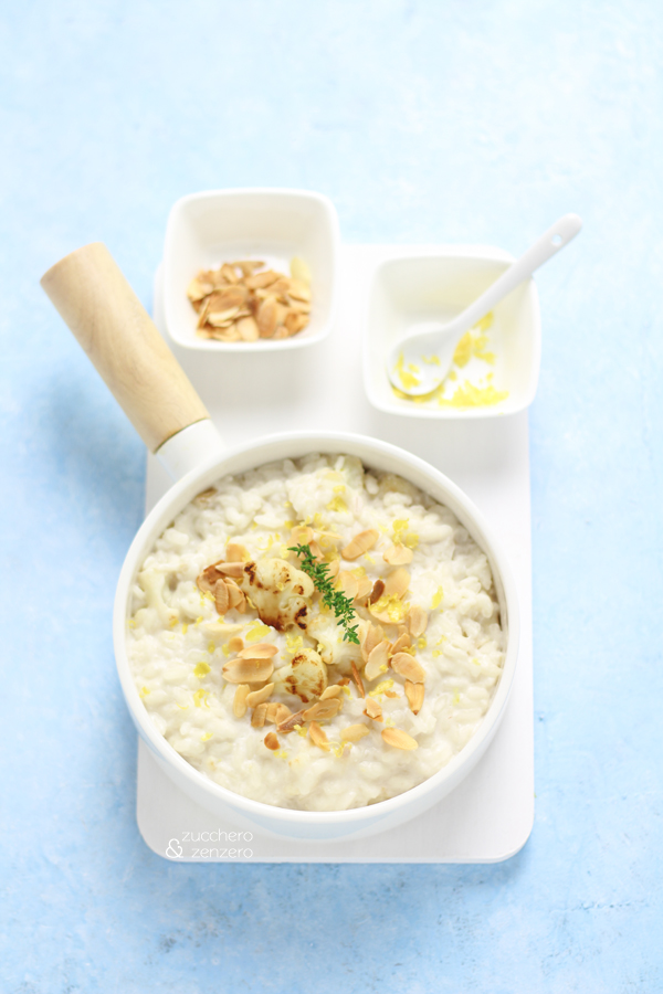 Risotto with cauliflower, ricotta and lemon