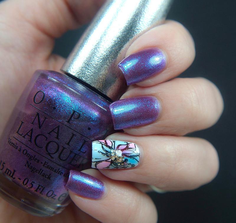 water color nail art vesivärikynnet