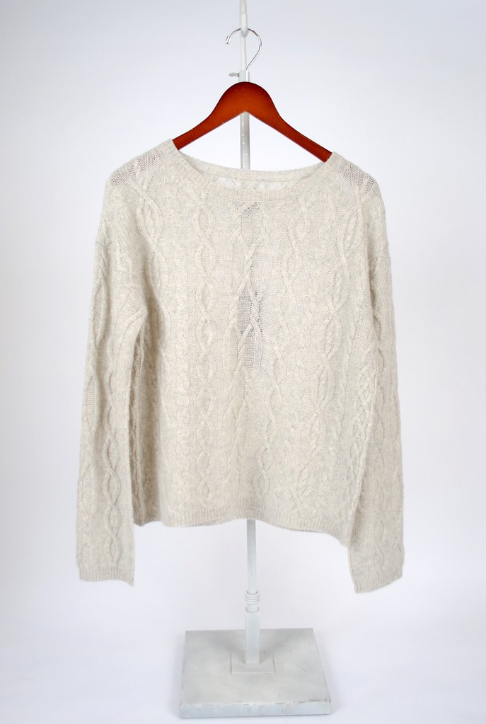 Holly Cashmere Cable-Knit Sweater