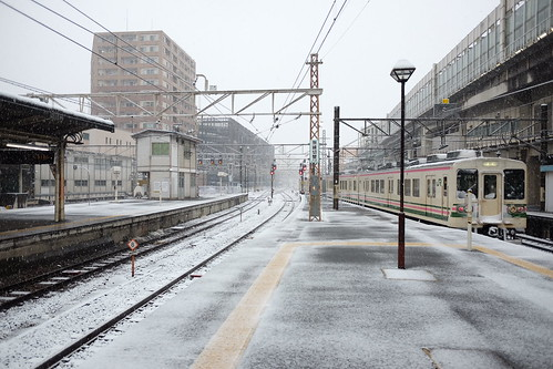 Takasaki station snow