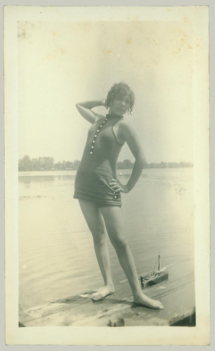 Girl on the dock posing