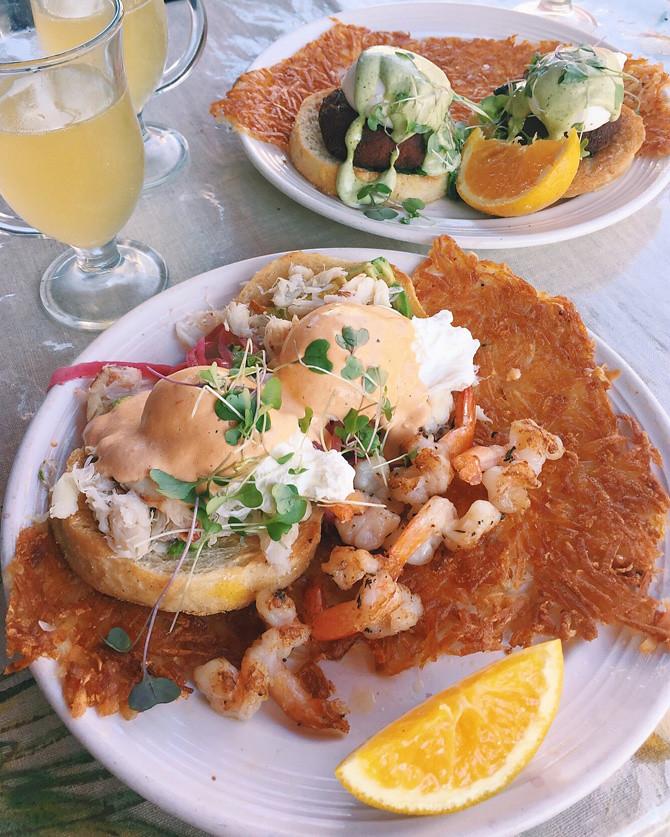 mymy cafe san francisco crab shrimp eggs benedict brunch