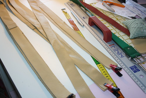 repen leer voor handgemaakte leren tas