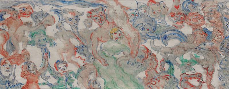 James Ensor - Monstres Entrelacés Décousus, Entrelardés, 1938