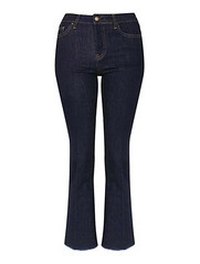 Topshop cropped raw hem flared jeans