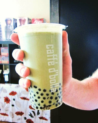 A matcha bubble milk tea is a wonderful treat for yourself or a great friend! 🗻🍵❤
