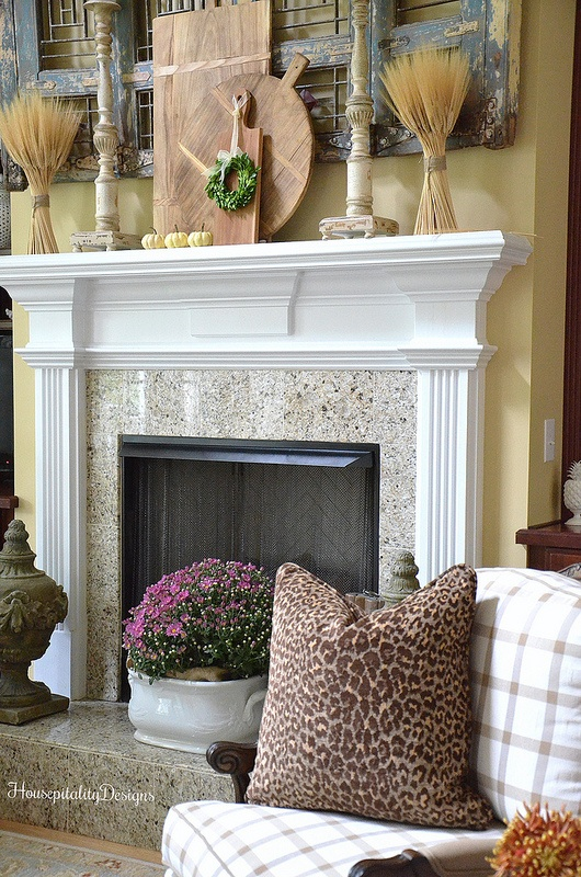 Fall Mantel - Housepitality Designs