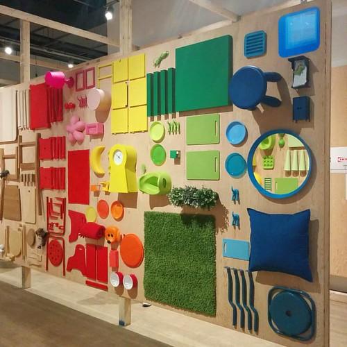 Rainbow of goods, 2 #toronto #designexchange #ikeacan40 #financialdistrict #ikea #rainbow