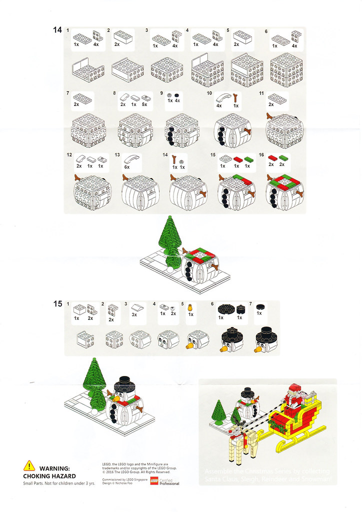 LEGO Snowman Instructions