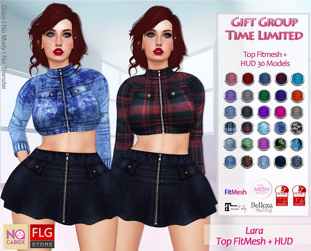 :: No Cabide + FLG :: Lara_ Top FitMesh - HUD 30 Models