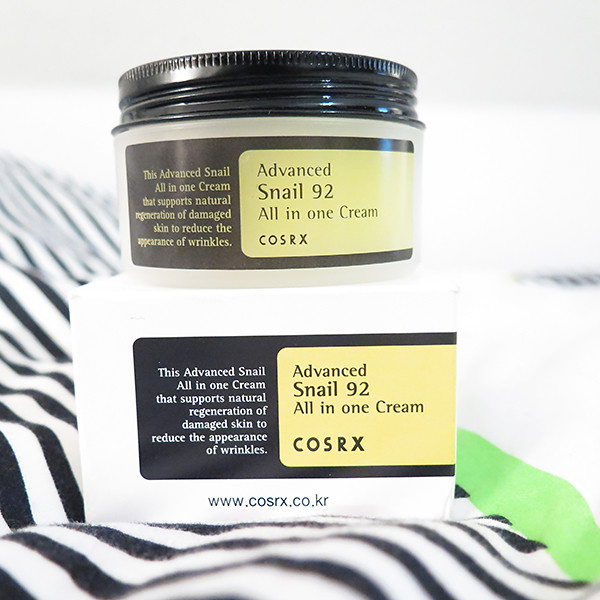 cosrx snail cream review