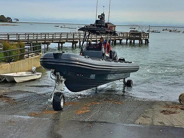 Ocean Craft Marine 9.8 meter Rigid Hull Inflatable Amphibious boat.