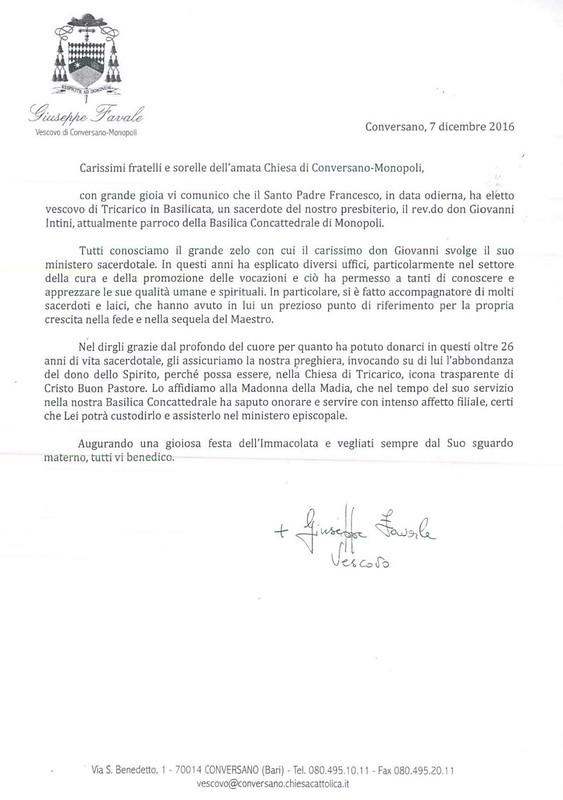 WhatsApp Image don giovanni intini vescovo tricarico favale