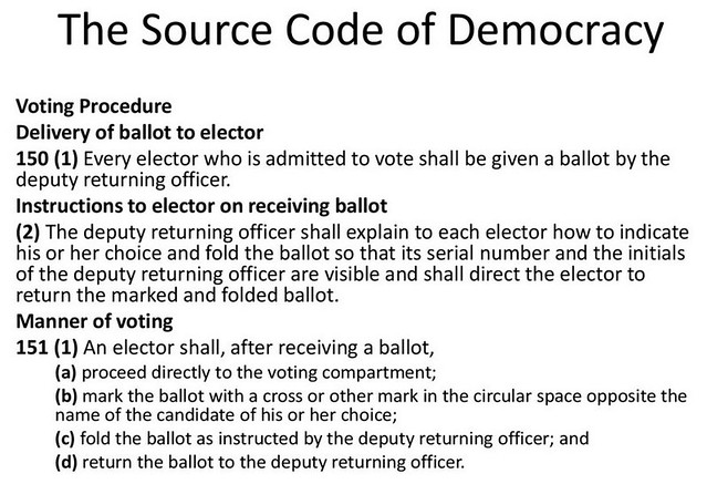 The Source Code of Canadian Democracy