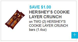 Hershey's Cookie Layer Crunch Coupon