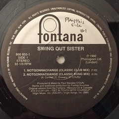 SWING OUT SISTER:NOTGONNACHANGE(LABEL SIDE-A)