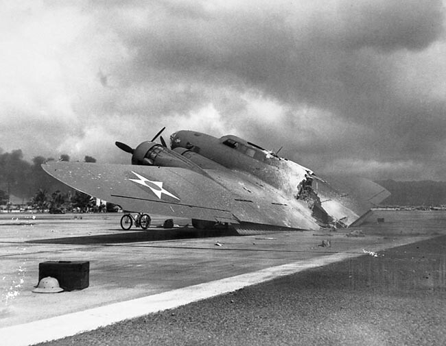 B-17 at Pearl Harbor