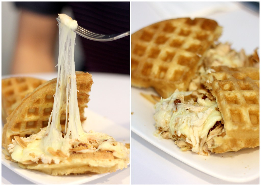 Relaxing Cafés in Punggol: Cravings Cafe Savoury Waffle