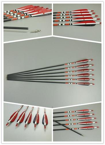 frecce in carbonio per arco longbow
