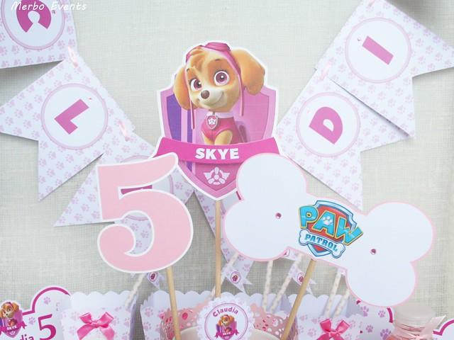 Cumpleaños Patrulla canina skye . Merbo Events