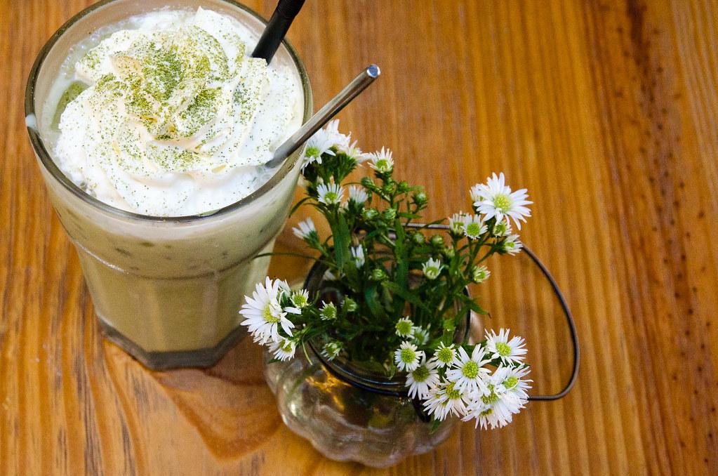 Green Tea Latte at Backlane Coffee.