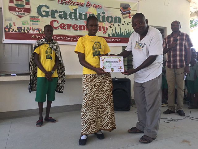 Chabetty is presented with a Certificate of Participation