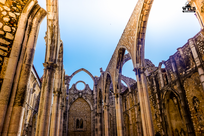 Carmo opened roof church in Lisbon