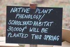 Schoolyard Habitat signage at local school