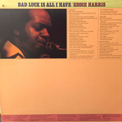 EDDIE HARRIS:BAD LUCK IS ALL I HAVE(JACKET B)