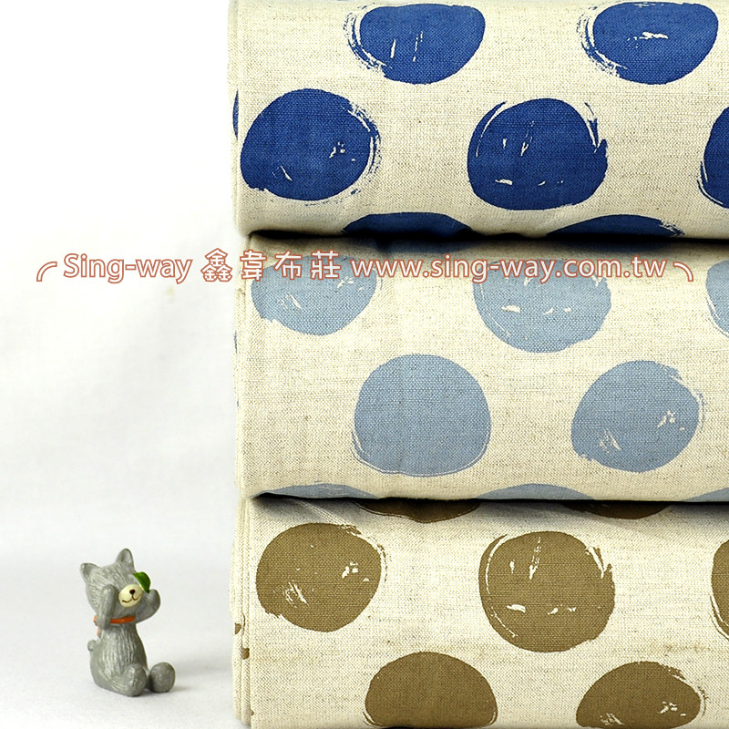 大圓點 簡約無印 點點 水玉 泡泡 森林系 服裝用布 手工藝DIy拼布布料 FB790053