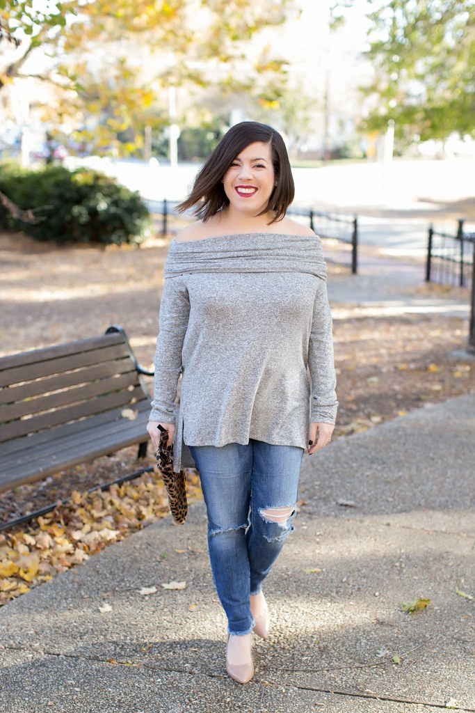 Head to Toe Chic-@akeeleywhite-Off the Shoulder Tunic