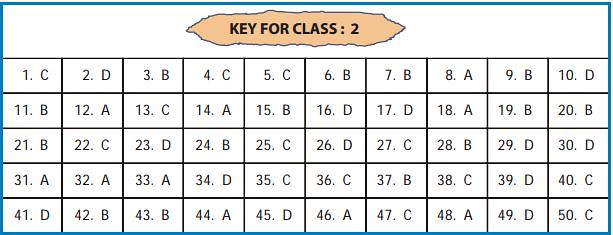 Key For Class 2