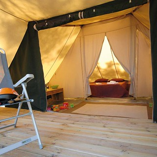 Glamping del camping Sant Pol (Foto cortesía del camping).