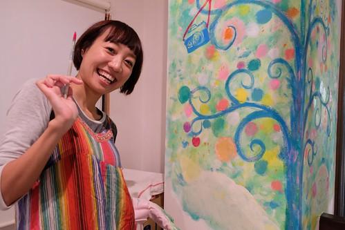 写真展 うちの Sakura Memories @イロハニ堂 ライブペイント