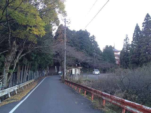 朝倉山 大谷池 車道出合