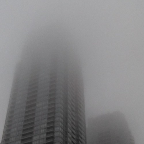 Enduring mist, 2 #toronto #yongeandeglinton #condos #tower #clouds #fog #mist