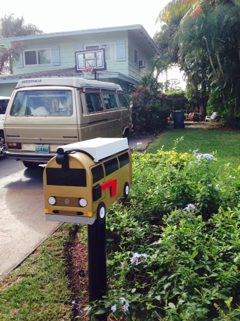 Gold VW Vanagon Mailbox By TheBusBox