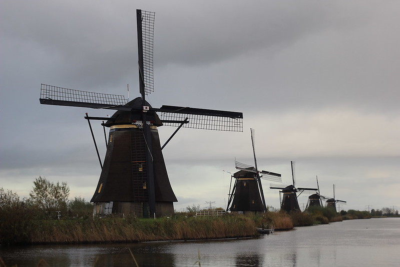 Windmills near Amsterdam The Hague Kinderdijk