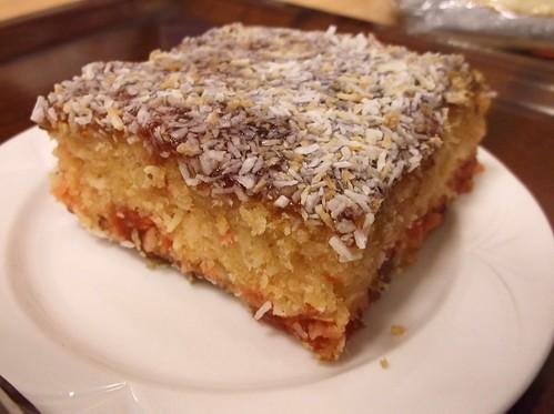 Coconut cherry cake