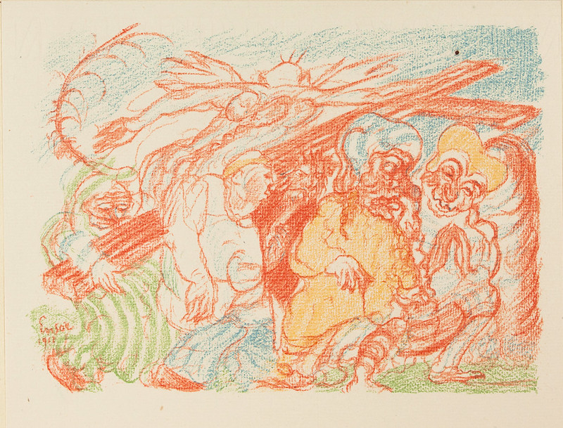 James Ensor - Scenes from the Life of Christ, 1921
