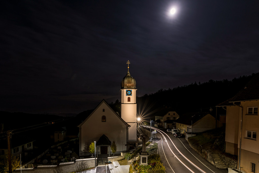 Waldkirch bei Nacht
