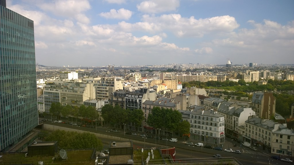Views from my room in the Paris Pullman Montparnasse