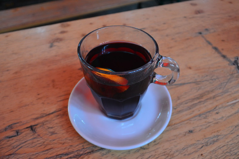 This is a picture of a glass of hot gluhwein