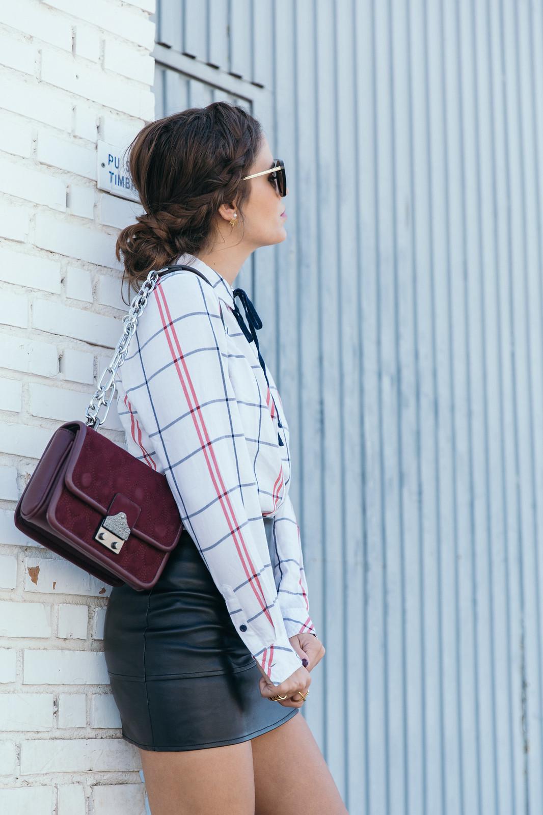 Jessie Chanes Seams for a desire - Black Boots Itshoes Parfois bag faux leather skirt-13