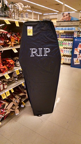 Life-Sized Casket at Safeway