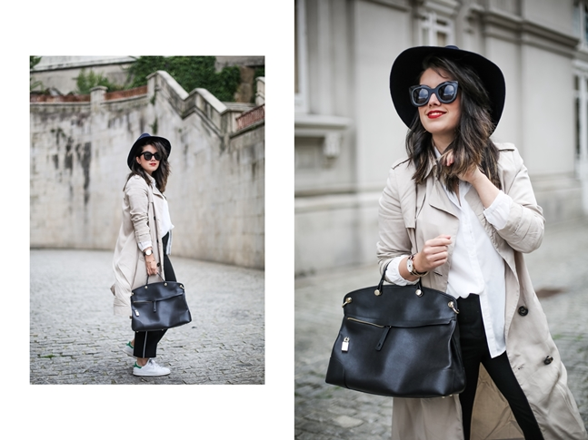 piper furla bag with beige trench streetstyle myblueberrynightsblog
