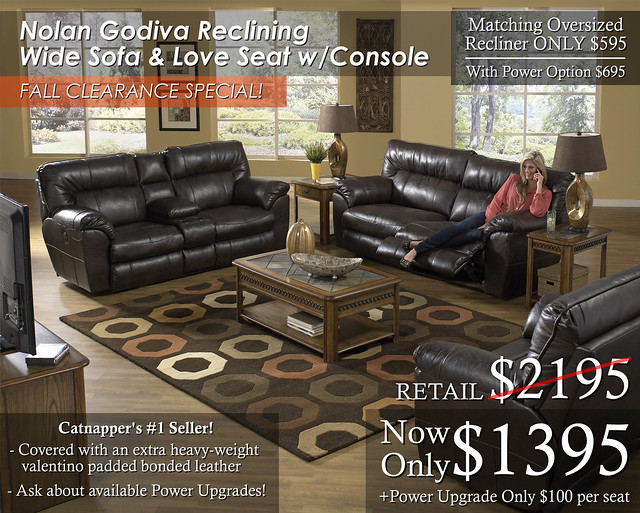 Nolan Godiva Reclining Wide Set FALL