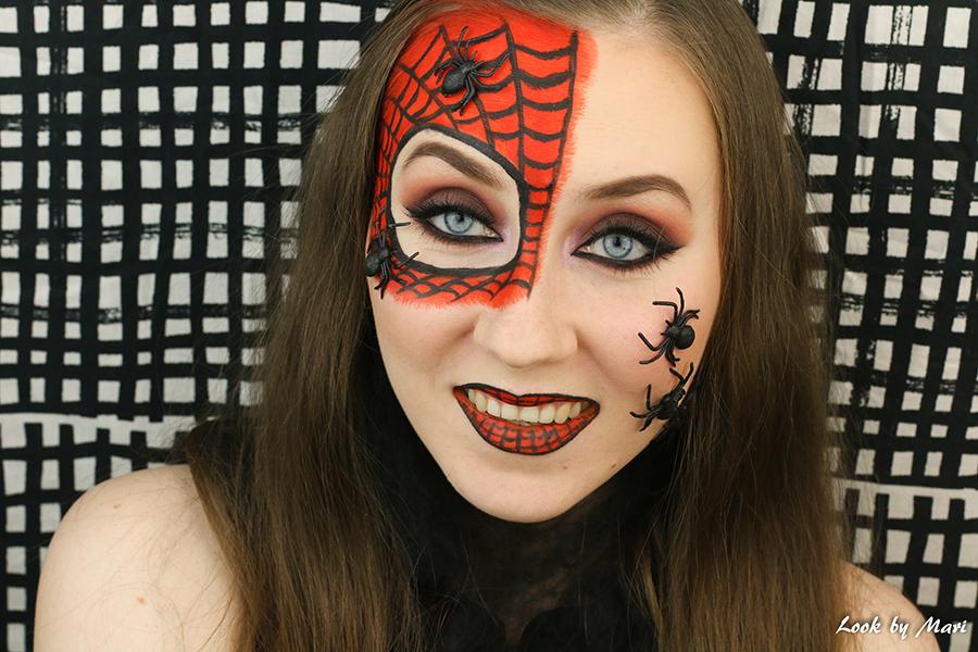 13 hämähäkki mies meikki asu halloweeniksi